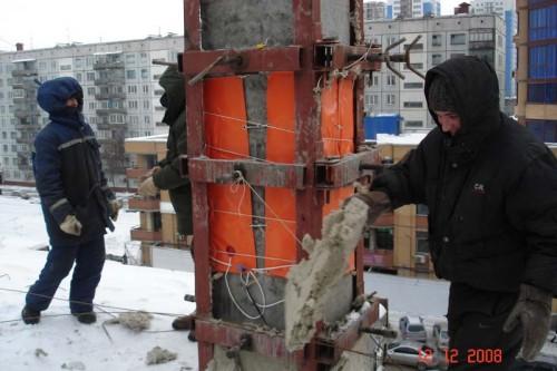 Термоматы при зимнем бетонировании