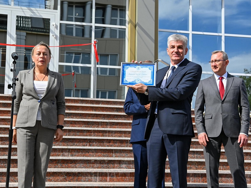 Церемония открытия нового научно-инженерного корпуса АО «АЛГОНТ»
