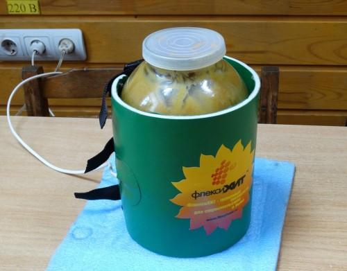 Декристаллизация мёда в банке